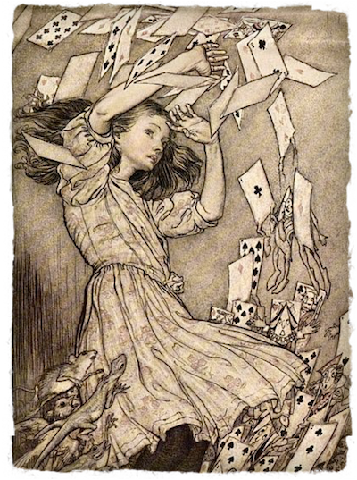 Alice in Wonderland by Arthur Rackham [Public domain], via Wikimedia Commons