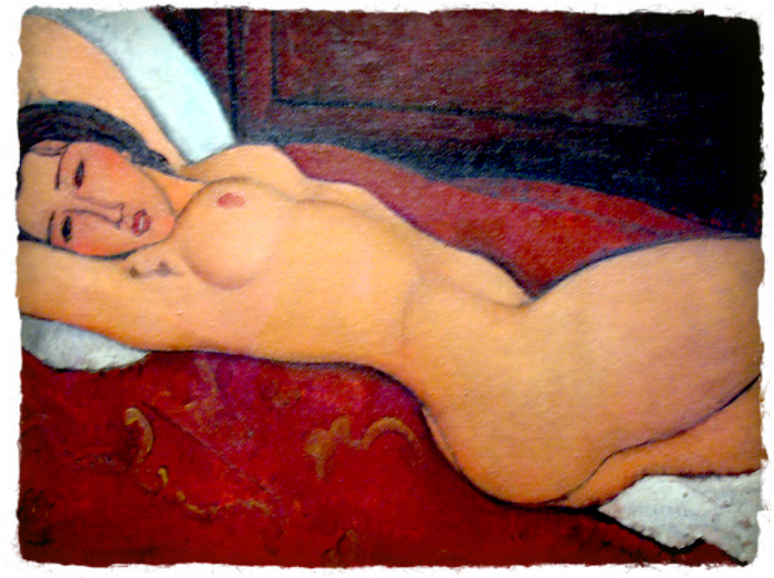 A Reclining Nude by Modigliani